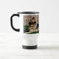 Quizzical German Shepherd Travel Mug