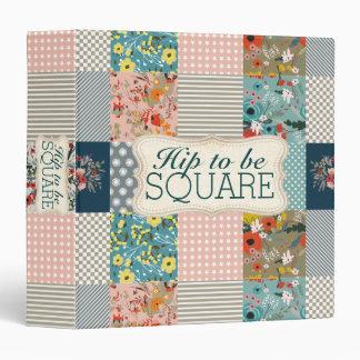 Qulter quilting floral stripes block quilt 3 ring binder