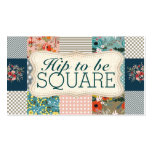 Qulter quilting floral stripes block quilt business card
