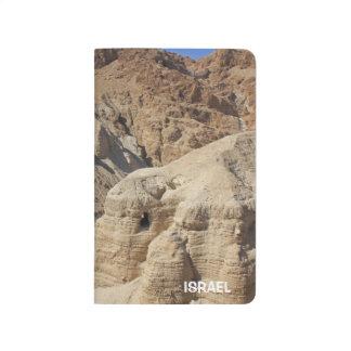 Qumran Valley in Israel on a Pocket Journal