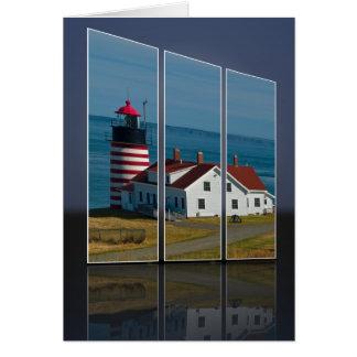 Quoddy Head Lighthouse Cutout Card