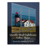 Quoddy Head Lighthouse Cutout Postcard