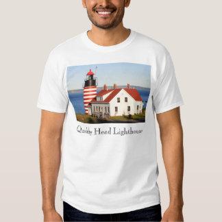 Quoddy Head Lighthouse Maine Shirts