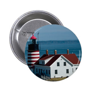 Quoddy Head Lighthouse Pinback Button