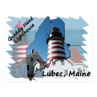 Quoddy Head Lighthouse ver2 Post Cards