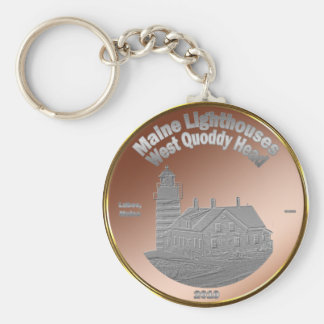 Quoddy Lighthouse Coin/Token Key Chain