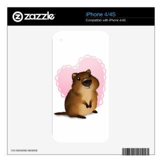 Quokka Decals For iPhone 4S