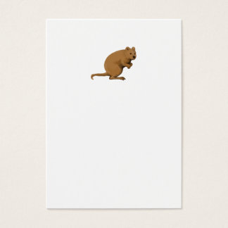 Quokka Side Watercolor Business Card