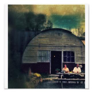 Quonset Hut Picnic Photo Print