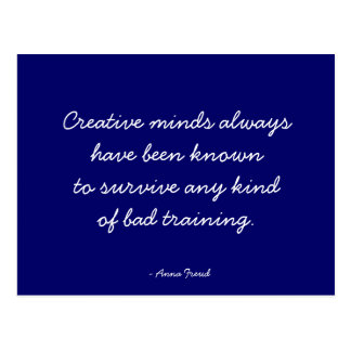 Quotable Postcard - Creative Minds