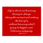 Quotable Postcard - Life and Challenge