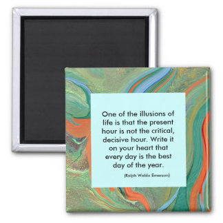 quotation by Emerson - illusions of life magnet