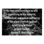 Quotation from Booker T. Washington Poster