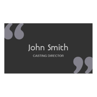 Quotation Marks Casting Director Business Card