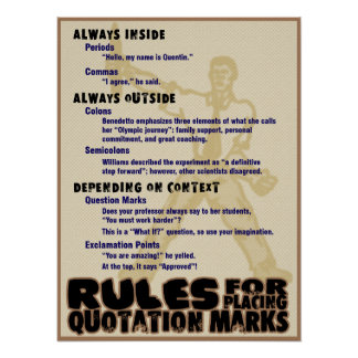 Quotation Marks Poster