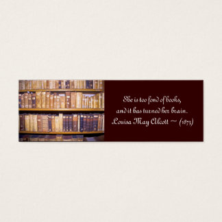 Quotation mini-bookmark/School Librarian Day Mini Business Card