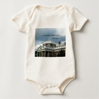 Quote about Books by Thomas Jefferson Baby Bodysuit
