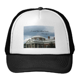 Quote about Books by Thomas Jefferson Mesh Hat