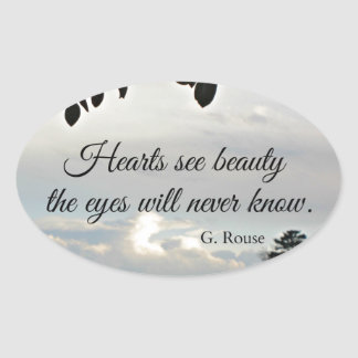 Quote about inner beauty oval sticker