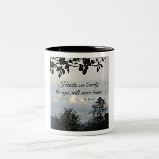Quote about inner beauty Two-Tone coffee mug