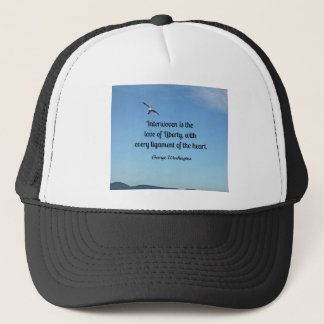 Quote about liberty, by George Washington Trucker Hat