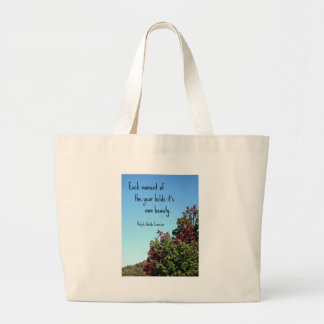 Quote about nature by Emerson. Canvas Bags