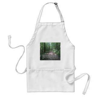 Quote about Nature by G.W. Carver Adult Apron