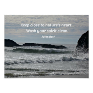 Quote about nature by John Muir Poster