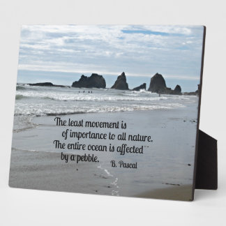 Quote about Nature: The least movement... Plaque
