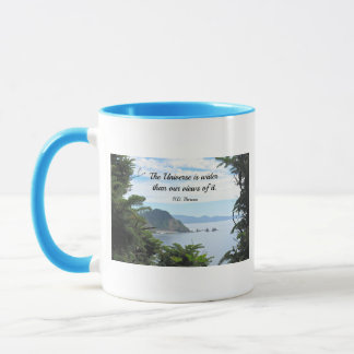 Quote about our views of the universe. mug