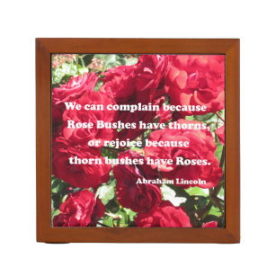 Abraham Lincoln Rose Quote Office School Products Zazzle
