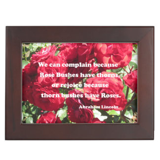 Quote about roses by Abraham Lincoln Memory Box