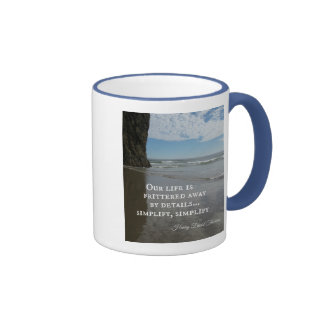 Quote about simplifing life. ringer mug