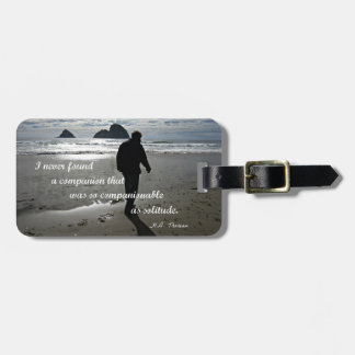 Quote about solitude by H.D. Thoreau Travel Bag Tag
