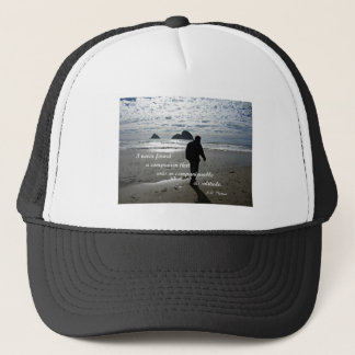 Quote about solitude by H.D. Thoreau Trucker Hat