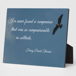 Quote about Solitude Plaques