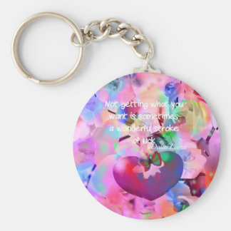 Quote about stroke of luck. keychain