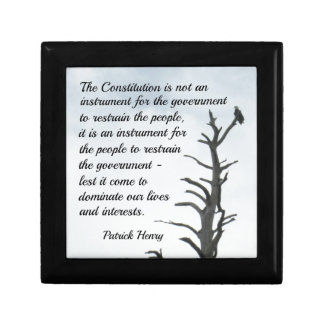 Quote about the Constitution by P. Henry Gift Box