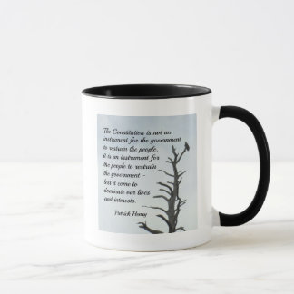 Quote about the Constitution by P. Henry Mug