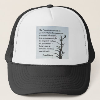 Quote about the Constitution by P. Henry Trucker Hat