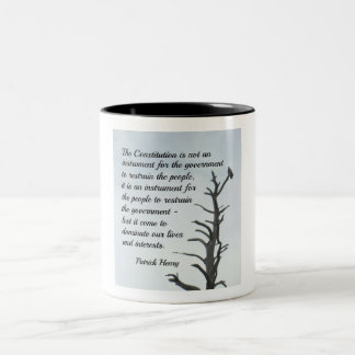 Quote about the Constitution by P. Henry Two-Tone Coffee Mug