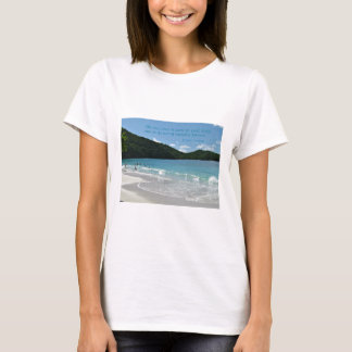 Quote about the Sea, by J. Cousteau T-Shirt