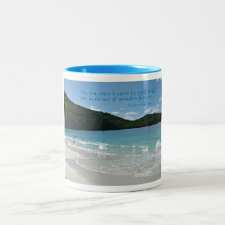 Quote about the Sea Two-Tone Coffee Mug