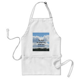Quote about the sky and it's beauty adult apron