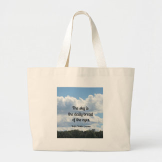 Quote about the sky and it's beauty tote bags