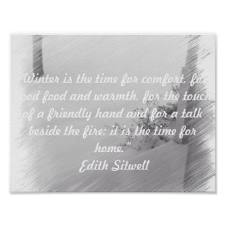 Quote About Winter Poster