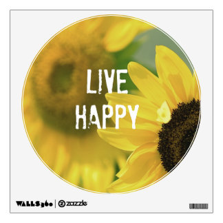 Quote Affirmation Mantra: Live Happy Wall Skins