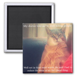 Quote and Cat Magnet