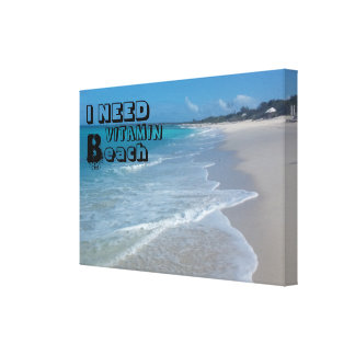 Quote Beach Canvas Print