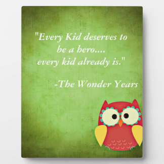 Quote board for child's room plaque